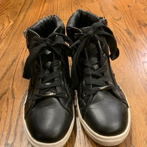 Steve Madden Black High Top Sneakers